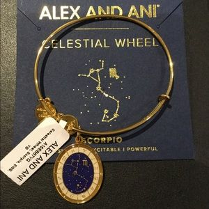 Alex and Ani Scorpio Celestial Wheel Gold Bangle